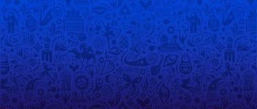 Bannière de coupe du monde du football Images libres de droits