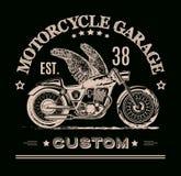Bannière de coutume de Morotcycle illustration stock