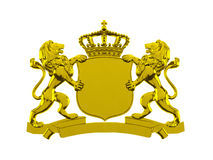 Bannière de crête de lion d'or illustration stock