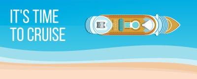 Bannière de croisière de mer illustration libre de droits
