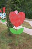 Bannière de décoration dans la forme de l'arbre de coeur Image libre de droits
