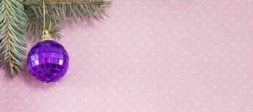Bannière de décoration de Noël dans la résolution 8 x 3 Photos stock