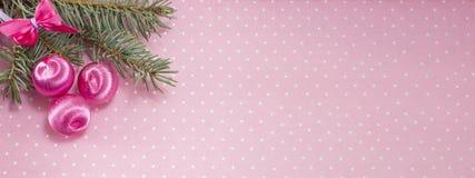 Bannière de décoration de Noël dans la résolution 8 x 3 Photographie stock libre de droits