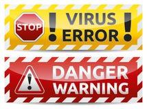 Bannière de danger illustration stock