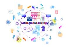Bannière de direction de concept de stratégie de gestion d'entreprise Image stock