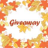 Bannière de don avec des feuilles d'automne Image stock