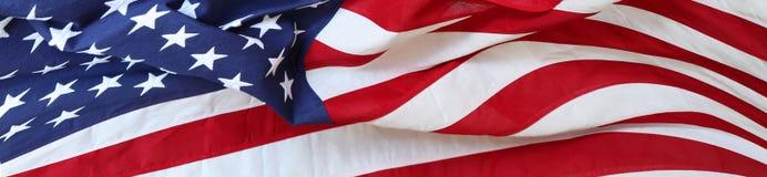 Bannière de drapeau des Etats-Unis Image libre de droits