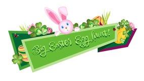 Bannière de fête de Pâques sur un fond blanc Photos libres de droits