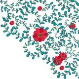 Bannière de feuilles et de fleurs Photo stock
