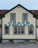 Bannière de foi, d'espoir et d'amour photo libre de droits