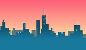 Bannière de fond d'horizons de ville Photos libres de droits