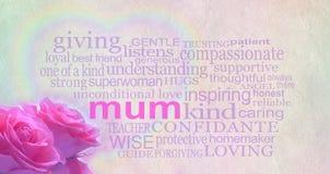 Bannière de fond du jour de mère Photo libre de droits
