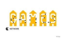 Bannière de fond de jeux de réseau illustration stock