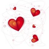 Bannière de forme de coeur d'amour de Valentine Day Gift Card Holiday avec l'espace de copie Photo stock
