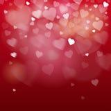 Bannière de forme de coeur d'amour de Valentine Day Gift Card Holiday avec l'espace de copie Photos stock