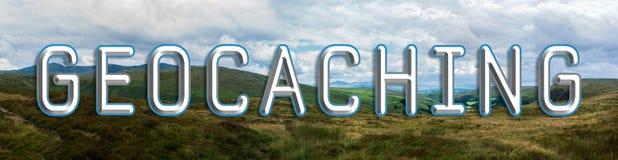 Bannière de Geocaching Images stock