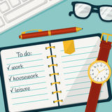 Bannière de gestion du temps Dirigez le concept background Photos stock