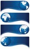 Bannière de globe Photo libre de droits
