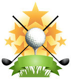 Bannière de golf illustration stock