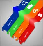 Bannière de graphiques d'infos Image stock