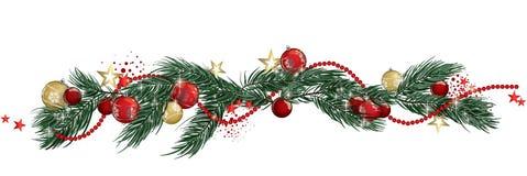Bannière de guirlande de Noël image libre de droits