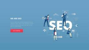 Bannière de héros de SEO Images stock