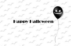 Bannière de Halloween avec des ballons de Halloween Ghost Ballons à air effrayants Illustration Configuration illustration de vecteur