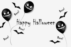 Bannière de Halloween avec des ballons de Halloween Ghost Ballons à air effrayants Illustration Configuration illustration libre de droits