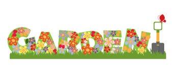 Bannière de jardin Photographie stock