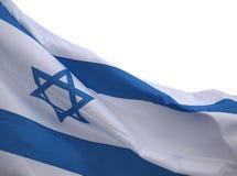 Bannière de l'Israël sur le vent Photographie stock