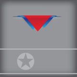Bannière de la Corée du Nord illustration de vecteur