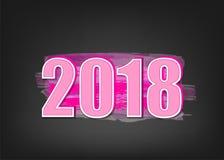 bannière de la nouvelle année 2018 illustration libre de droits
