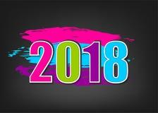 bannière de la nouvelle année 2018 illustration de vecteur