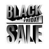 Bannière de lettrage des vacances 3d de Black Friday Photographie stock libre de droits