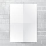 Bannière de livre blanc contre le mur de briques Photo stock
