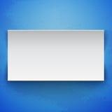 Bannière de livre blanc sur le fond grunge bleu Photographie stock