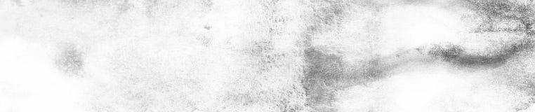 Bannière de macro fond de texture d'aquarelle abstraite noire Contexte abstrait de gamme de gris de texture d'aquarelle Image stock