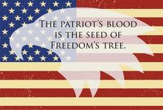 Bannière de Memorial Day avec l'aigle américain là-dessus Photographie stock libre de droits