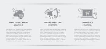 Bannière de menu de concept d'affaires du marketing numérique de nuage Photos libres de droits