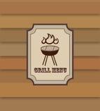 Bannière de menu de gril rétro Affiche de nourriture de BBQ Image stock