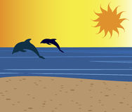 Bannière de mer Photos libres de droits