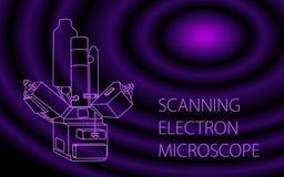 Bannière de microscope à balayage électronique Photo stock