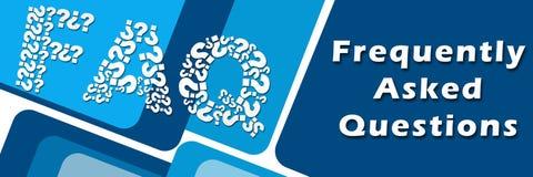 Bannière de mots-clés de symboles des textes de FAQ Image libre de droits