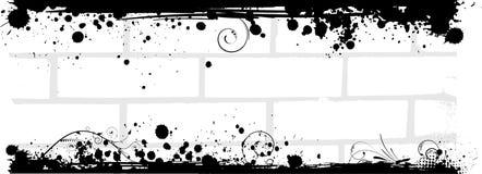 Bannière de mur de briques grunge illustration de vecteur