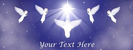 Bannière de nativité de Noël Photo libre de droits