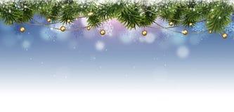 Bannière de Noël de vacances illustration de vecteur