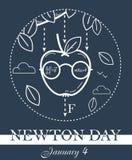 Bannière de noir de Newton Day illustration stock