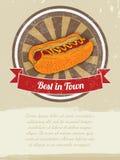 Bannière de nourriture avec le hot dog pour faire de la publicité vecteur prêt d'image d'illustrations de téléchargement Photos stock
