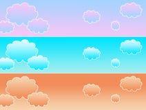 Bannière de nuage Photographie stock