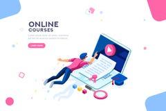 Bannière de page Web de calibre d'université illustration stock